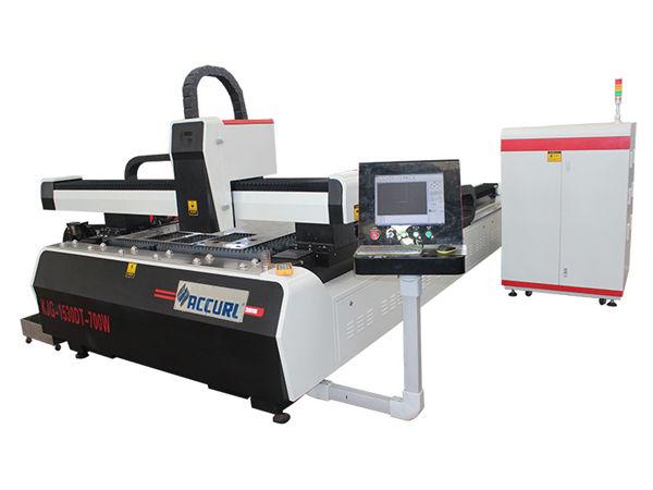 eficiência elevada da movimentação do dobro da máquina de corte do laser da fibra do cnc da placa de aço de liga